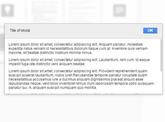 Google Style Draggable Modal Window with Pure JavaScript