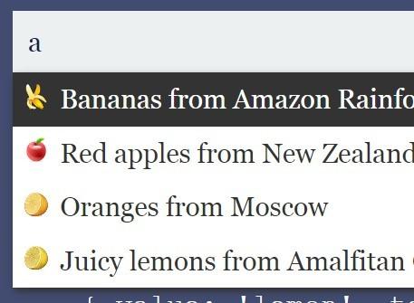 Customizable Autocomplete JavaScript Library  – horsey.js