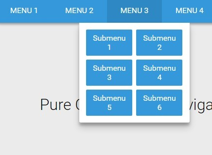 Material Style Responsive Dropdown Navigation with Pure CSS | CSS Script