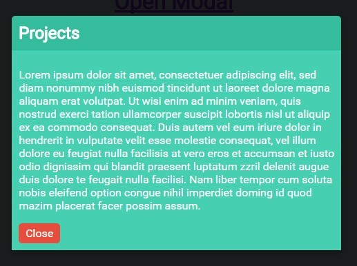 Minimal Pure CSS Responsive Modal Box  – modalcss