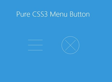 Pure CSS3 Animated Hamburger Toggle