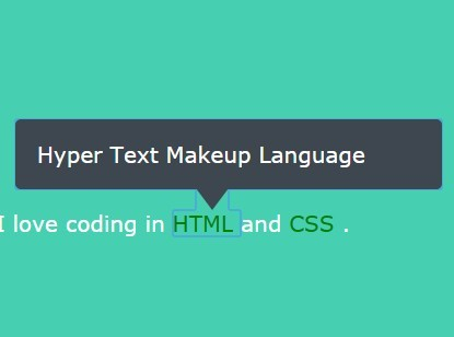 Pure HTML5 / CSS Tooltip Solution