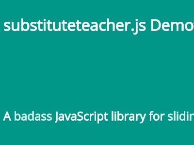 Pure JavaScript Library To Rotate Through Sentences – substituteteacher.js