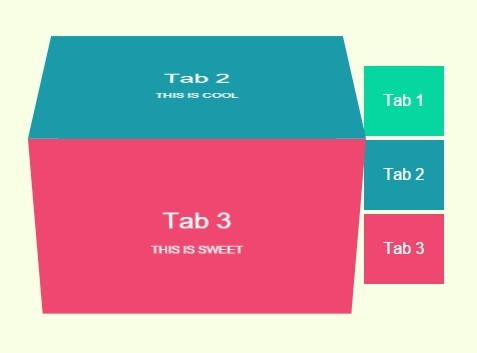 Pure CSS Tabbed Interface with 3D Cube Flip Animation | CSS Script