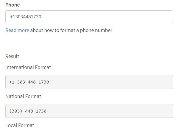 JavaScript Library For Parsing, Formatting and Validating Phone Numbers – front.phone