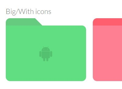 Customizable File Folder Icons with Pure CSS – FFolders.css