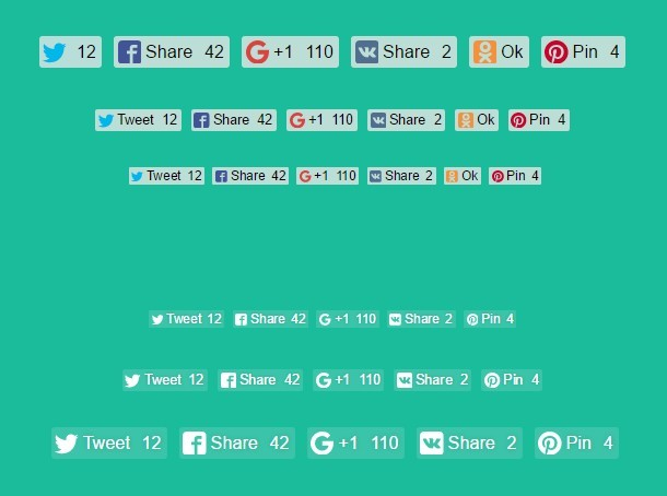 Custom Social Share Buttons with JavaScript and CSS – Likely