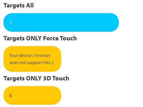 JavaScript Library For 3D Touch Handling – Pressure