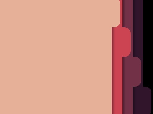 Pure CSS Full Window Page Slider with Folder Tab Navigation