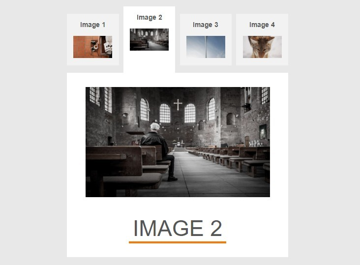 Simple Tab Gallery with Pure CSS / CSS3