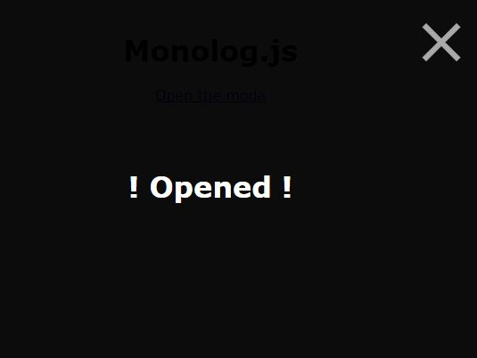 Simple Fullscreen Modal Window In Pure JavaScript – Monolog.js