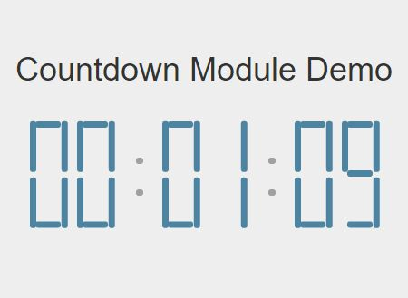 Best Free countdown In JavaScript & CSS - CSS Script