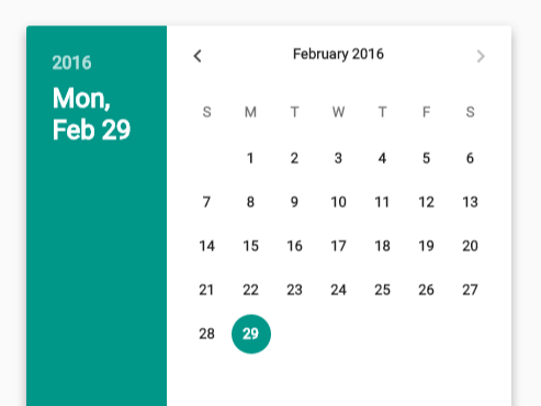 Material Design Date Time Picker In Vanilla JavaScript | CSS