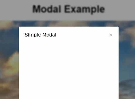 Simple Modal Window With Background Blur Effect