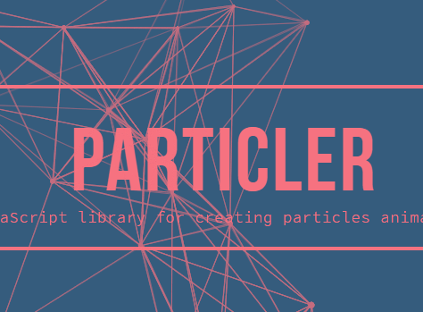 Custom Particles Animation With JavaScript And Canvas – particler