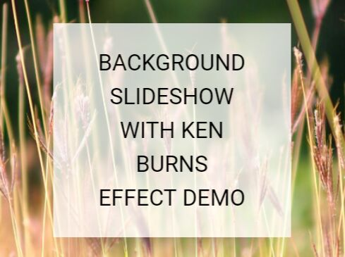 Pure CSS Background Slideshow With Ken Burns Effect