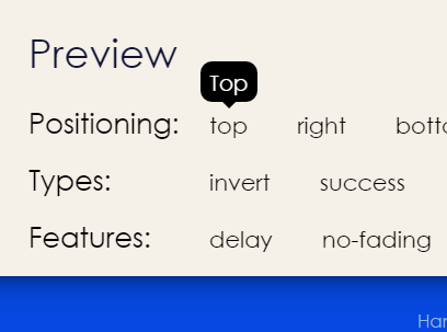 Easy Animated Tooltip CSS Library – Tootik