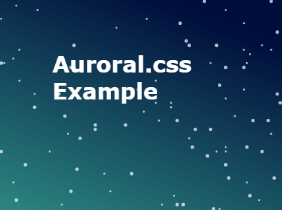 Animated Gradient Background In Pure CSS - Auroral css | CSS