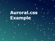 Auroral.css
