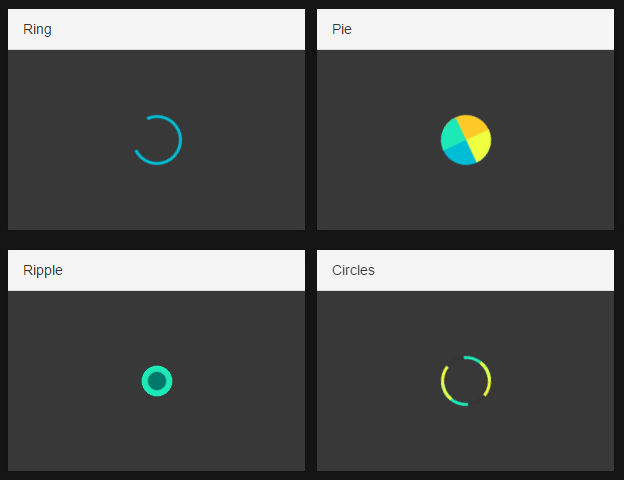 Pure CSS Loading Indicator Collection – mk-spinners