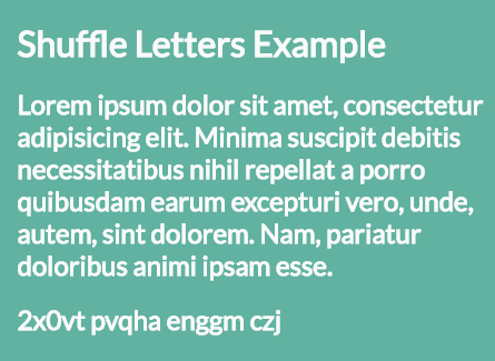 Shuffle Letters Effect In Pure JavaScript – shuffle-letters.js