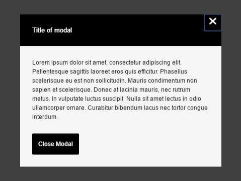 Lightweight Modal Window With Vanilla JavaScript And CSS/CSS3 - js