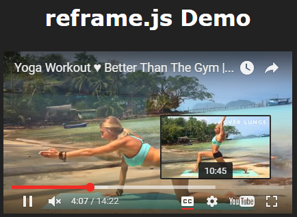 Lightweight JS Library For Responsive Embedded Content – reframe.js