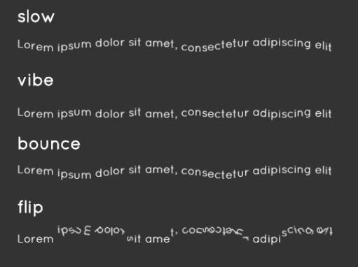 Minimal Text Animation JavaScript Library – txt.wav