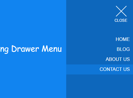 Pure CSS / CSS3 Morphing Drawer Menu