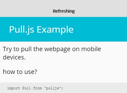 Pull To Refresh Library With Pure JavaScript – Pull.js
