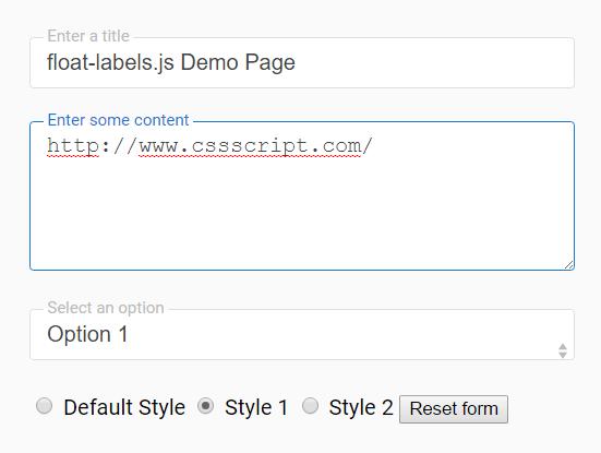 Pure JavaScript Float Label Pattern For Form Fields – float-labels.js