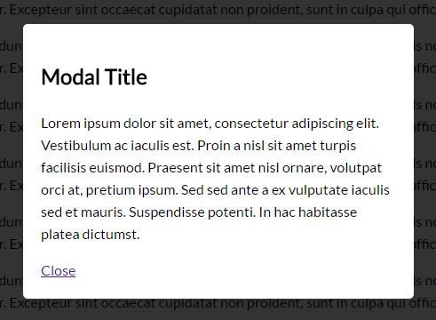 Pretty Simple Modal Window In Pure CSS | CSS Script