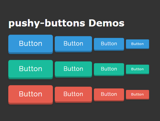 Animated 3D Buttons In Pure CSS – pushy-buttons