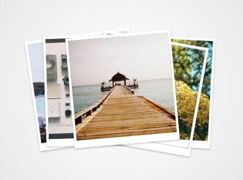 Polaroid-like Stacked Image Slideshow