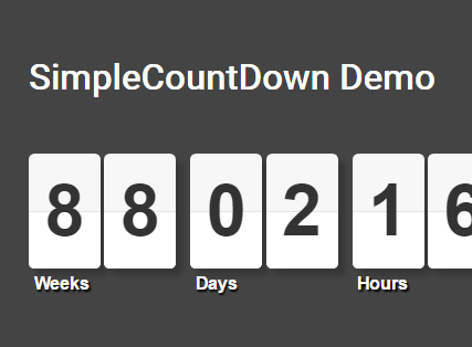 Flipping Countdown Clock With JavaScript And CSS - countDown js