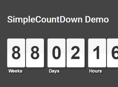 Flipping Countdown & Countup Clock