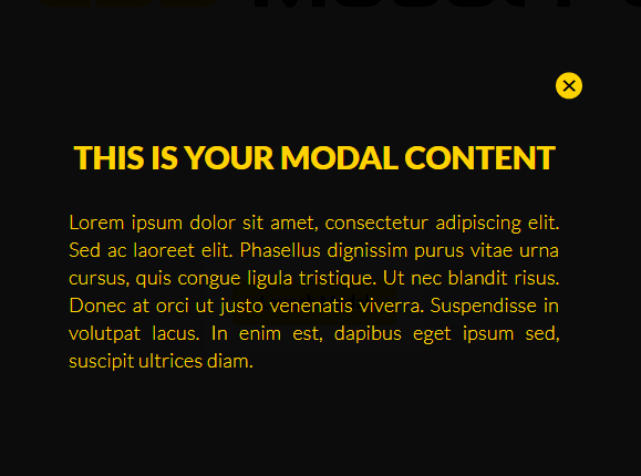Minimal Fullscreen Modal Library In Pure CSS – modal.css