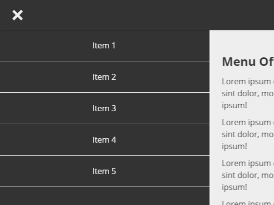 Responsive Push Navigation In Pure CSS
