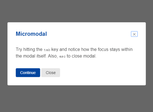Animated Accessible Modal In Pure JavaScript – microModal