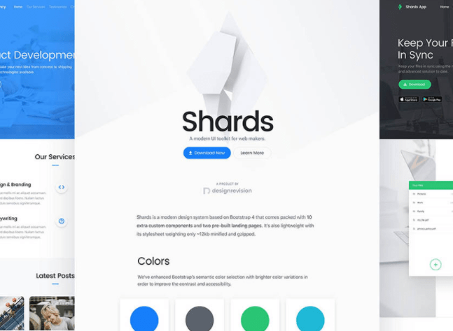 Mobile-first Bootstrap 4 UI Kit – Shards
