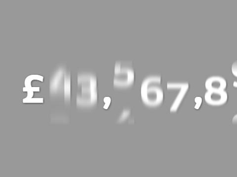 SVG Based Odometer Motion Blur Effect – bounty.js