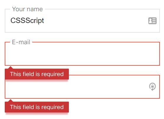 Using built-in form validation