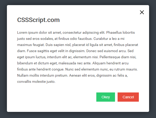 Simple Elegant Modal Popup With JavaScript