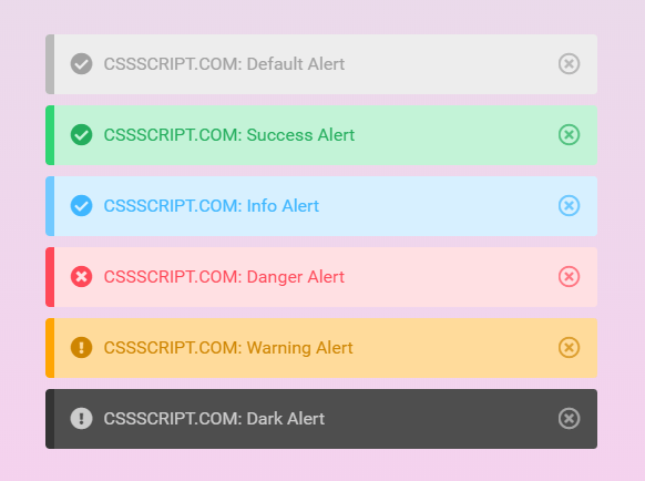 Create Elegant Alerts And Notices Using Pure CSS – Alerts.css