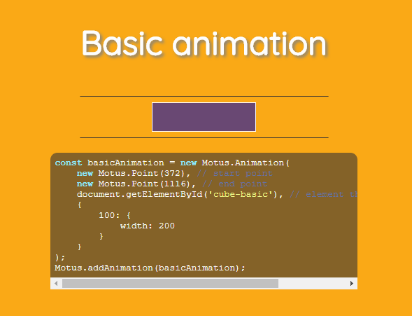 CSS @keyframes Like Sequence Animations On Scroll – Motus.js