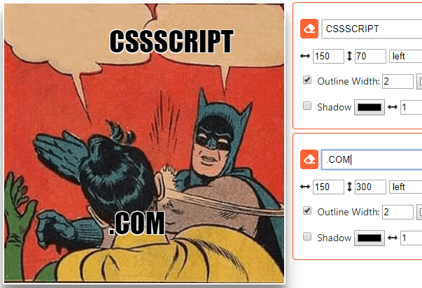 responsive meme generator with javascript and html5 canvas css script
