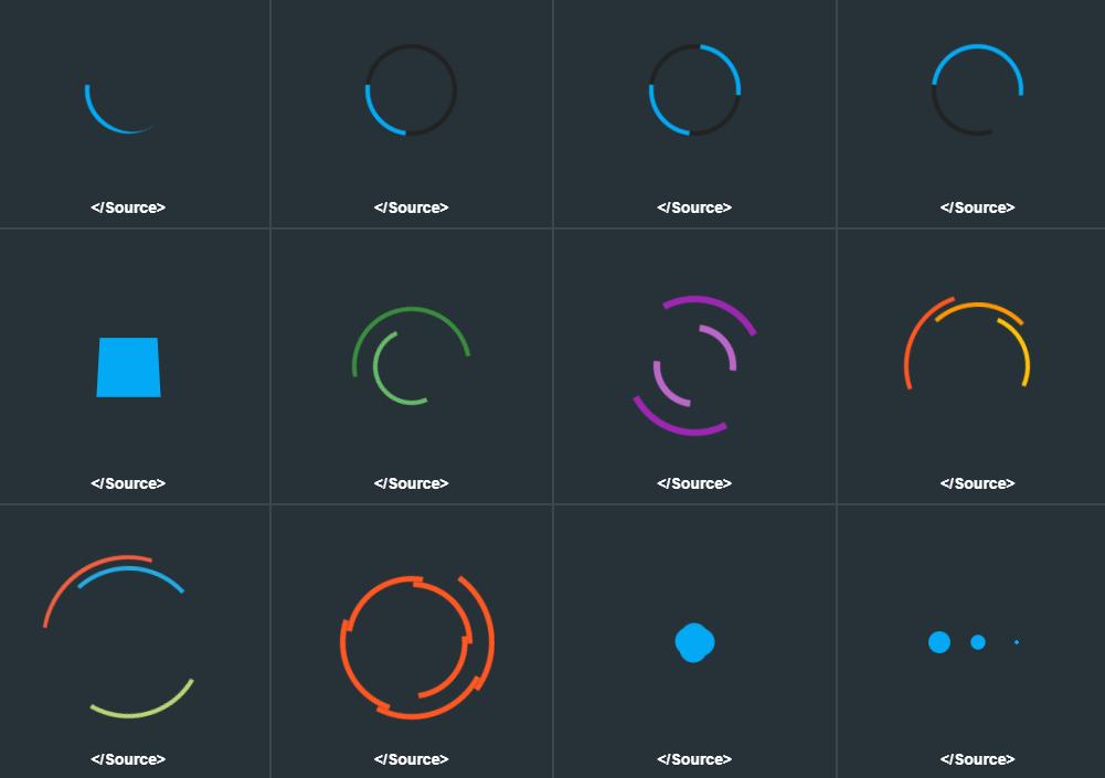 16 Animated CSS3 Loaders – LoadLab