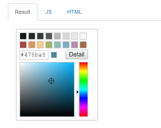 Basic Inline Color Picker Component – tui.color-picker