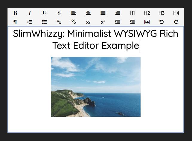 Minimalist WYSIWYG Rich Text Editor – SlimWhizzy