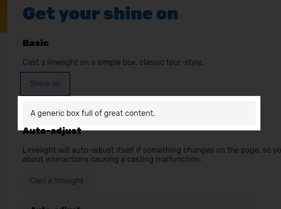 Spotlight-style Element Highlighting Library – limelight.js